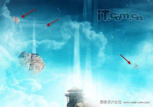 Photoshop合成魔幻城堡幻境場景教程