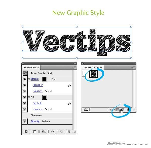 Illustrator國外教學:把任一字體轉換成速寫字體