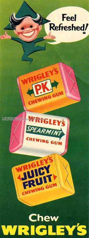 创意全球#绿箭口香糖复古海报赏析 | 组图; 绿箭口香糖的广告创意与