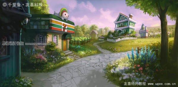 俯视村庄矢量图