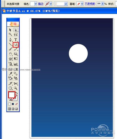 Illustrator教學:使用AI打造中秋壁紙