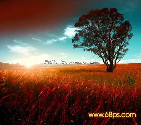 photoshop调出风景图片黄昏色效果(3)