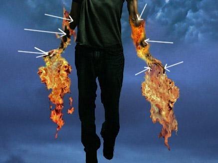 合成 教程/第十一步:添加从火焰反光