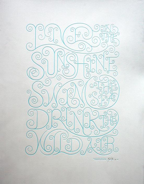 漂亮的文字版式设计欣赏