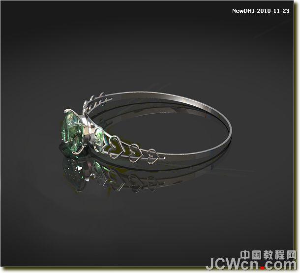 钻石戒指三视图手绘