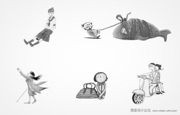 photoshop设计可爱的卡通剪纸人物场景