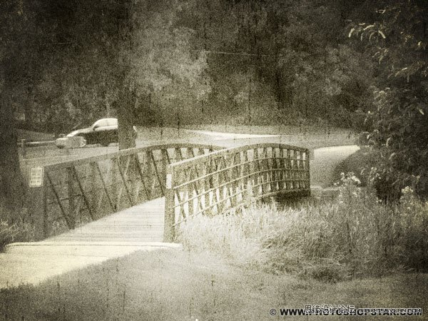 photoshop制作一幅黑白怀旧的老照片效果(3)