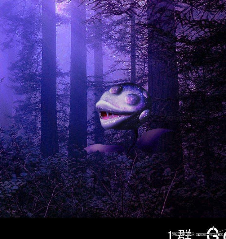 Photoshop绘制植物大战僵尸中的食人花 转载