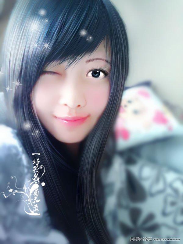 photoshop照片转手绘时头发的简单画法(2)