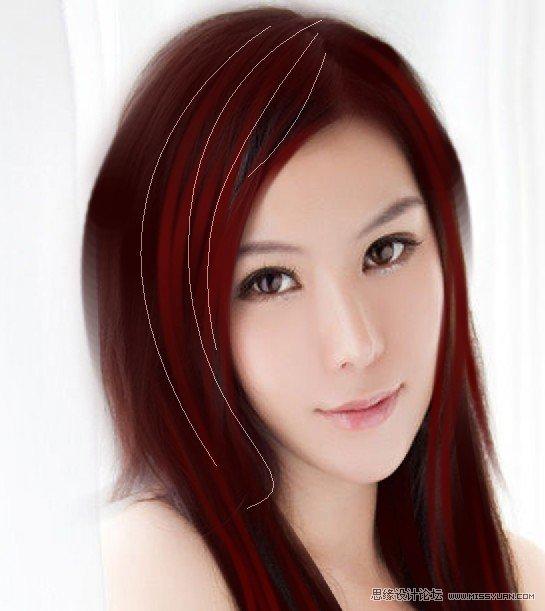 橘红色头�_photoshop给漂亮mm轻微转手绘教程