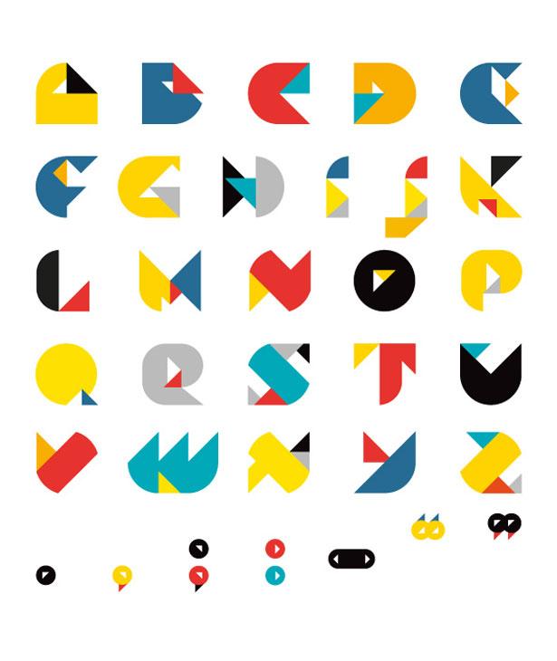 手绘26个立体字母教程