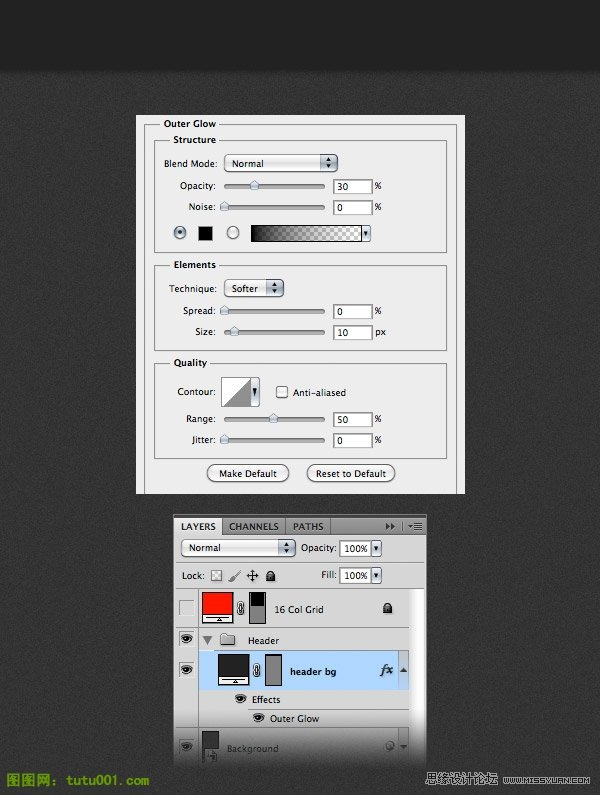 photoshop设计ipad为主题网页模板 - ps转载教程区
