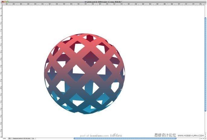 photoshop制作编织效果的立体光感球体