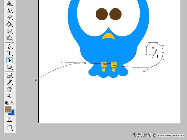 photoshop制作可爱的twitter小鸟图标教程