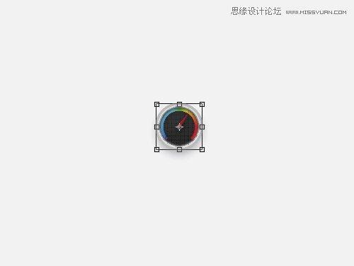 photoshop转载精美的图标鱼缸指针仪表-绘制圆形底滤桶设计图图片
