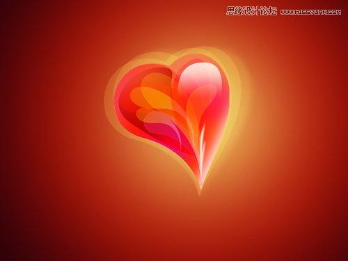 感的红色水晶心形