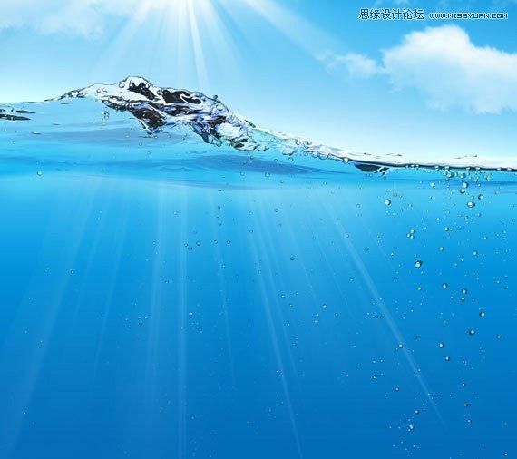 童水画风景大海