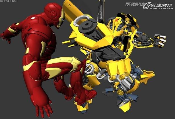 max实例教程:变形金刚大战钢铁侠
