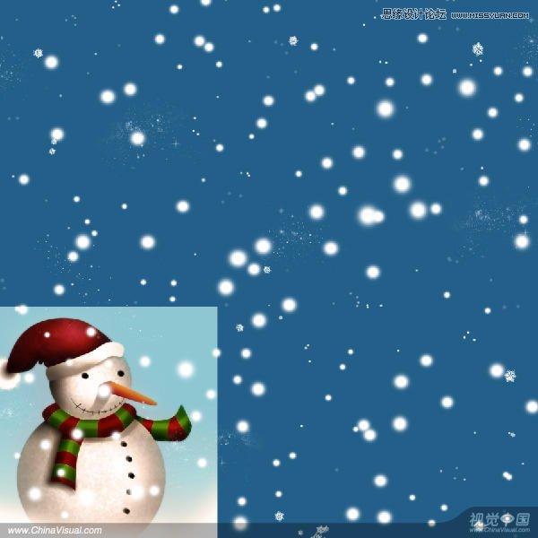 phhotoshop绘制可爱的卡通雪人动画教程-ps教;