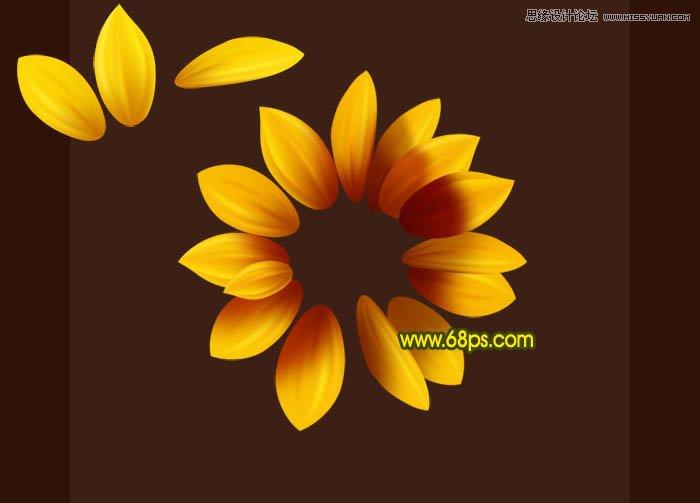 Photoshop绘制逼真的向日葵花朵教程