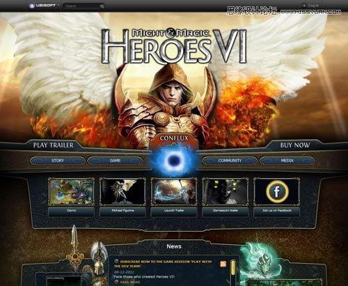 37个游戏类网站设计欣赏