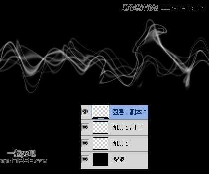 photoshop制作梦幻效果的电波光线