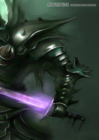 photoshop结合手绘板绘制游戏人物堕落骑士(3)
