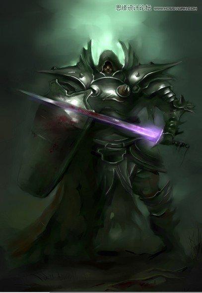 photoshop结合手绘板绘制游戏人物堕落骑士(2)