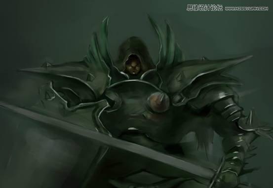 photoshop结合手绘板绘制游戏人物堕落骑士