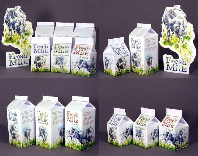 精選國外創意的牛奶包裝設計欣賞
