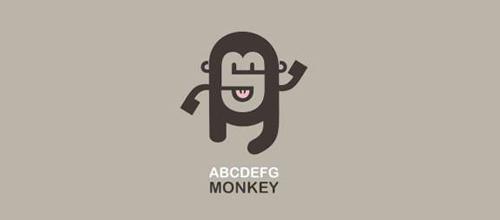 国外猴子logo矢量图