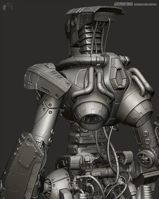 3dmax机器人模型_3dmax做机器人_机器人卡通_女机器人_机器人总动员 - www.yaxunsoft.com