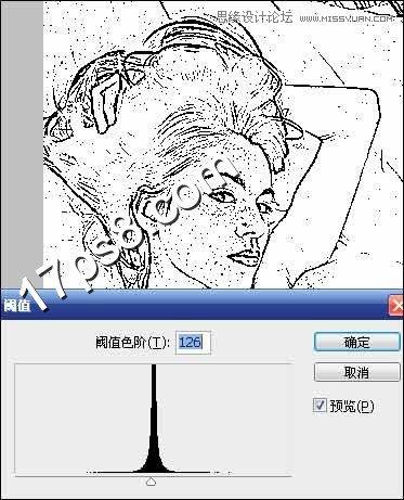 photoshop制作美女照片工笔画素描效果