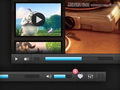 國外優秀網頁視頻播放器的界面設計