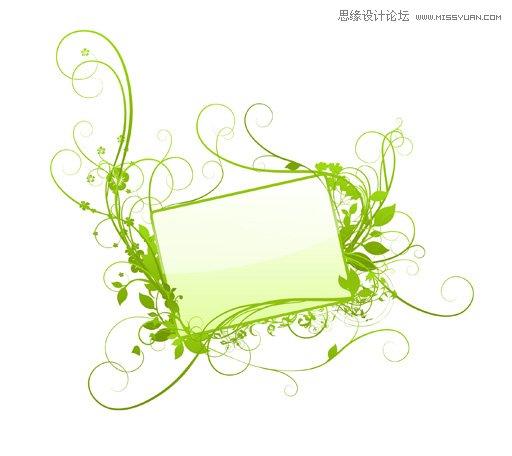 绿色花纹边框笔刷,ps笔刷