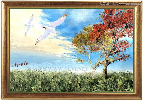 coreldrawx7画�_用coreldrawx7绘制现代装饰油画效果