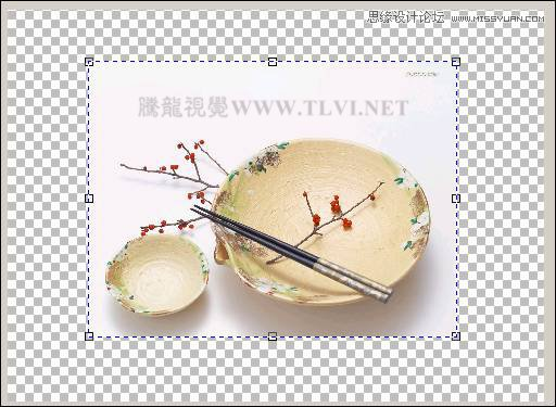 coreldraw绘制中国风水彩效果的盘子和筷子