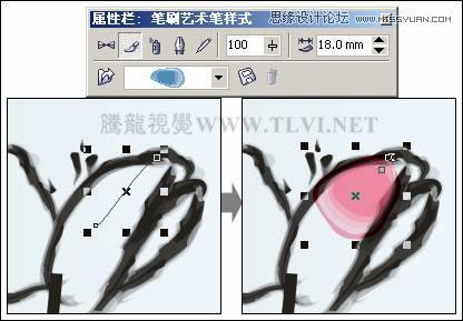 7-83 绘制花朵图形-CorelDRAW实例教程 绘制中国风国画教程