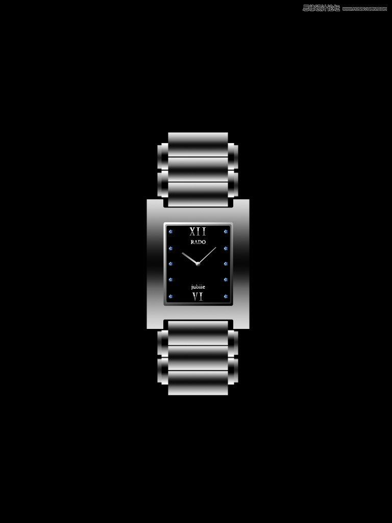 手表核心框架; photoshop绘制男士不锈钢手表教程; photoshop鼠绘一块