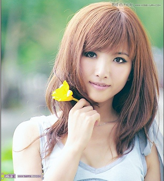 photoshop调出可爱美女影楼日系柔色调