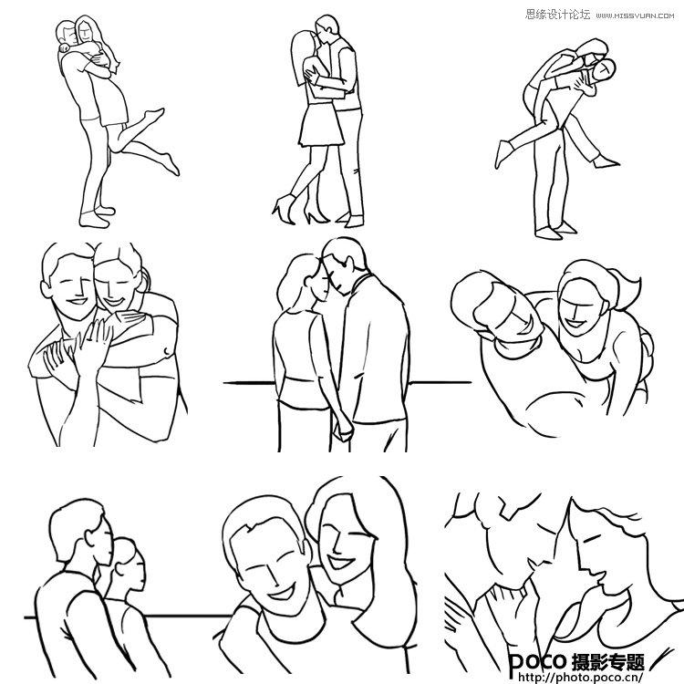 21个情侣摄影中的拍摄姿势技巧