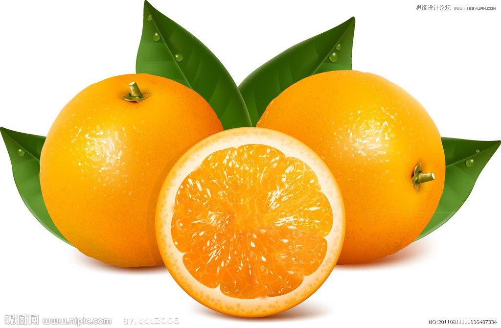 photoshop制作橙子果肉背景的艺术字教程