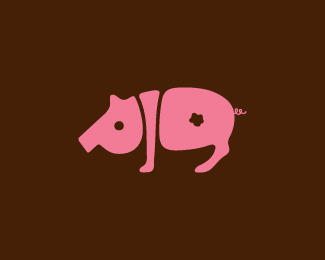 以猪为设计元素的logo设计欣赏