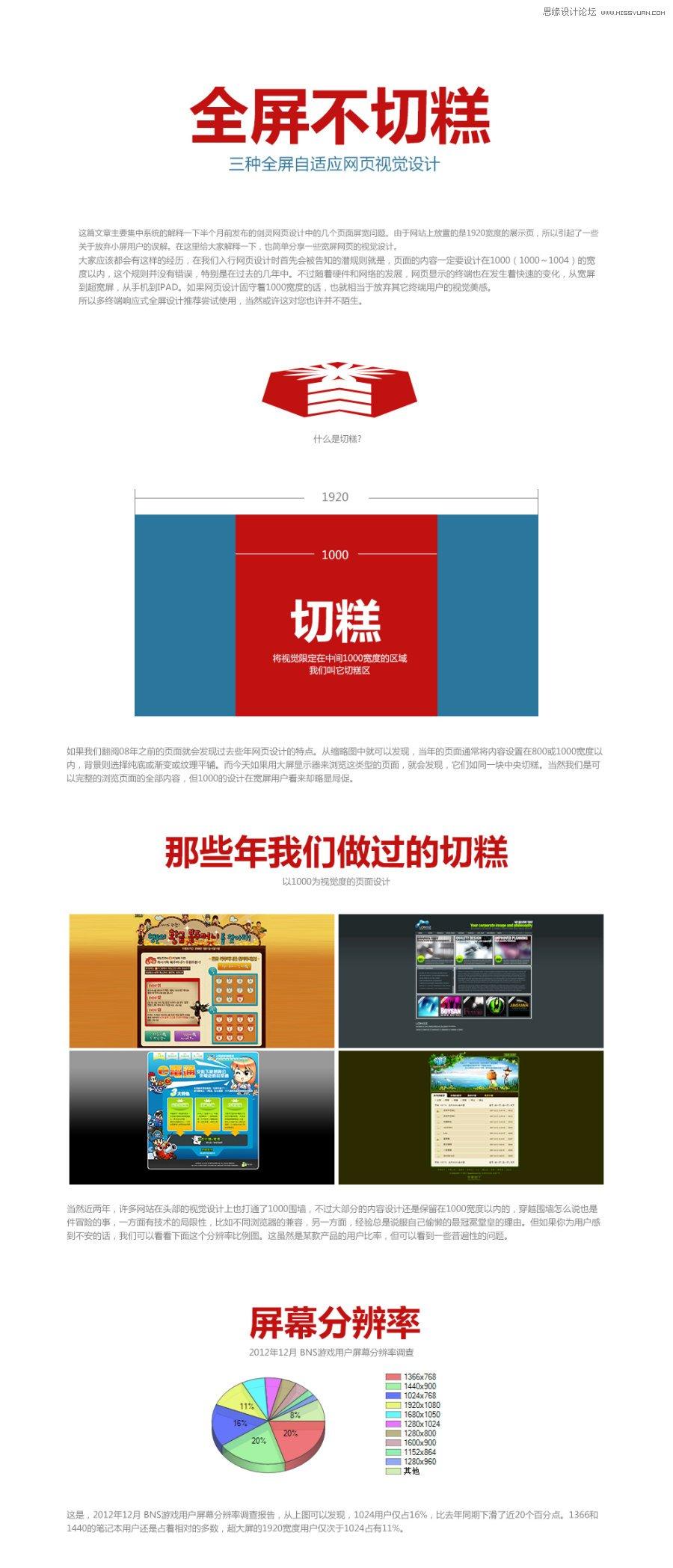 三种全屏自适应网页视觉设计心得