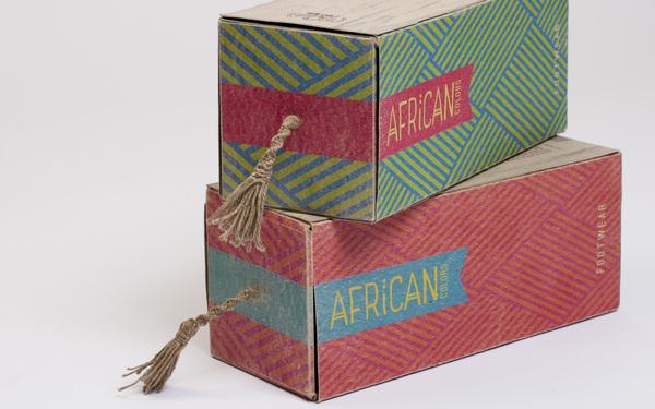 精选非洲风情的鞋包装设计欣赏