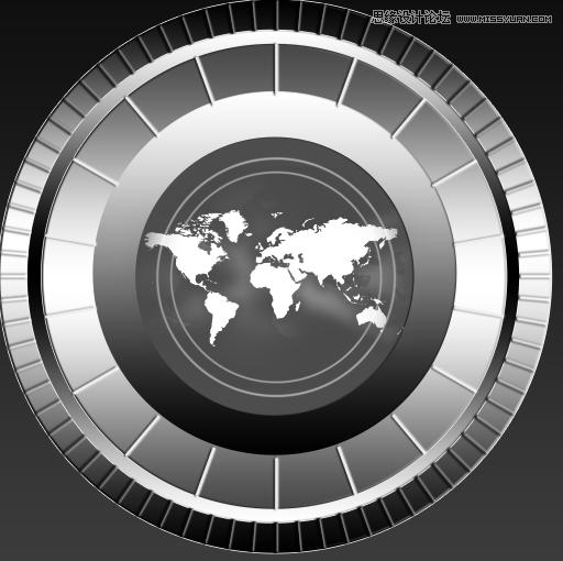 Photoshop自学金属圆形的质感指南针-转载教景观设计绘制图片