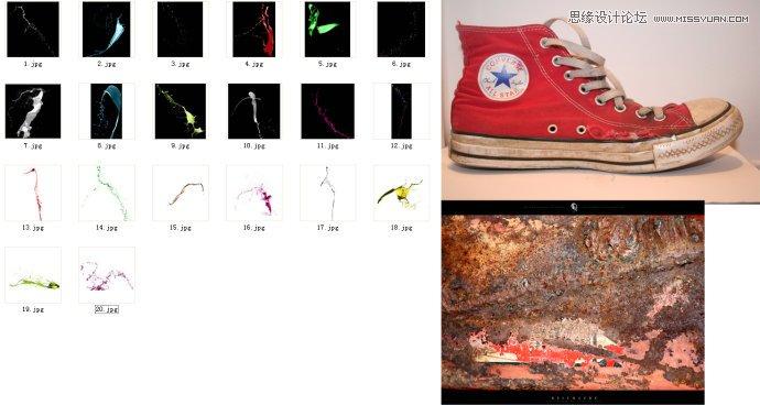 photoshop设计创意风格的运动鞋海报