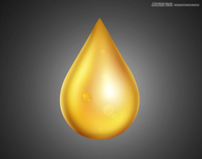 Photoshop绘制教程的专业基础水滴技法-+金色视频写作:v教程质感有图片