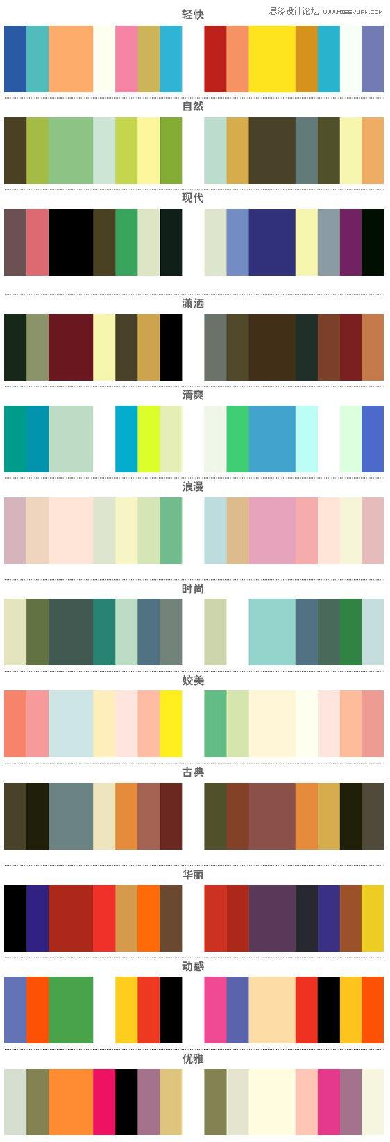 詳細解析配色方案及色彩心理學