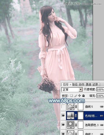 <a href=http://www.cnwebshow.com/http://www.cnwebshow.com/edu/photoshop/ target=_blank class=infotextkey>Photoshop</a>调出公园女孩唯美青色效果,PS教程